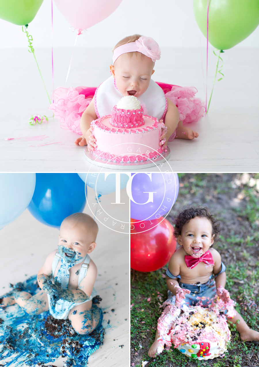 First Birthday Cake Smash Sessions In Tampa