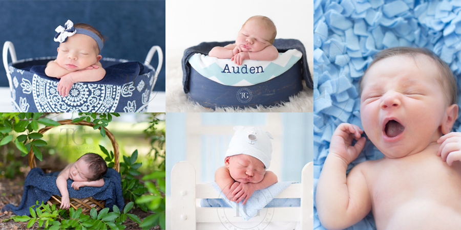 Photos of newborn babies in blue - Beautiful in blue
