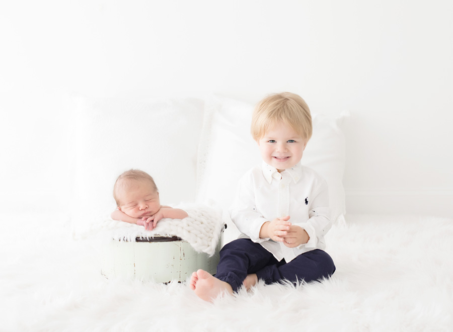 Expectations from Sibling at Newborn photo session
